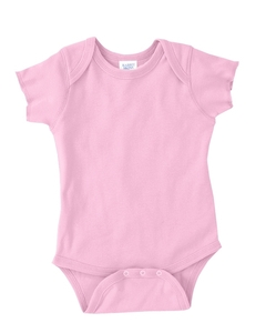 Pink Infant 5 oz. Baby Rib Lap Shoulder Bodysuit