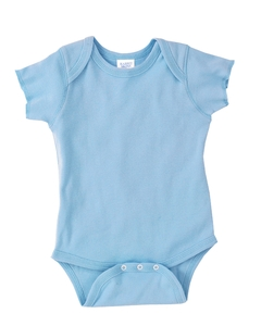 Light Blue Infant 5 oz. Baby Rib Lap Shoulder Bodysuit