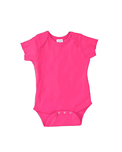 Hot Pink Infant 5 oz. Baby Rib Lap Shoulder Bodysuit