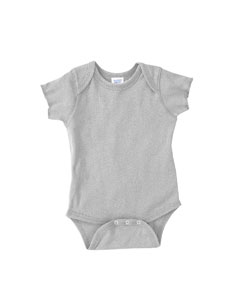 Heather Infant 5 oz. Baby Rib Lap Shoulder Bodysuit