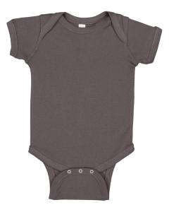 Charcoal Infant 5 oz. Baby Rib Lap Shoulder Bodysuit