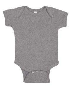 Granite Heather Infant 5 oz. Baby Rib Lap Shoulder Bodysuit