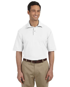 White Men's 6.5 oz. Cotton Piqué Polo
