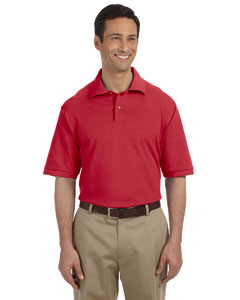 True Red Men's 6.5 oz. Cotton Piqué Polo