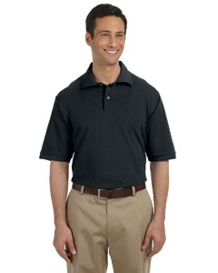 Black Men's 6.5 oz. Cotton Piqué Polo