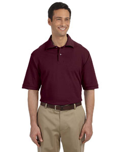 Maroon Men's 6.5 oz. Cotton Piqué Polo