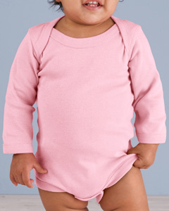 Pink Infant Long-Sleeve Baby Rib Bodysuit
