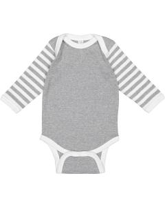 Ht/ Wh/ Ht Wh St Infant Long-Sleeve Baby Rib Bodysuit