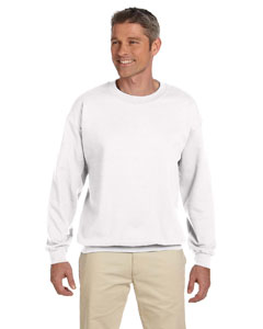 White Adult 9.5 oz., 50/50 Super Sweats® NuBlend® Fleece Crew