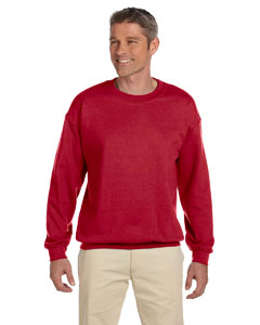 True Red Adult 9.5 oz., 50/50 Super Sweats® NuBlend® Fleece Crew