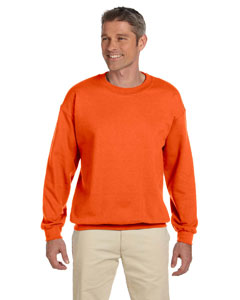Safety Orange Adult 9.5 oz., 50/50 Super Sweats® NuBlend® Fleece Crew