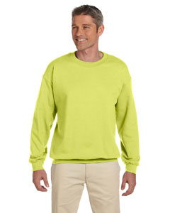 Safety Green 9.5 oz., 50/50 Super Sweats® NuBlend® Fleece Crew