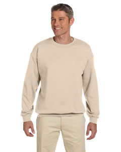 Sandstone Adult 9.5 oz., 50/50 Super Sweats® NuBlend® Fleece Crew