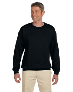 Black Adult 9.5 oz., 50/50 Super Sweats® NuBlend® Fleece Crew