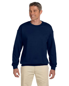 J Navy Adult 9.5 oz., 50/50 Super Sweats® NuBlend® Fleece Crew