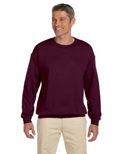 Maroon Adult 9.5 oz., 50/50 Super Sweats® NuBlend® Fleece Crew