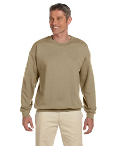 Khaki Adult 9.5 oz., 50/50 Super Sweats® NuBlend® Fleece Crew