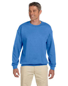 Columbia Blue Adult 9.5 oz., 50/50 Super Sweats® NuBlend® Fleece Crew