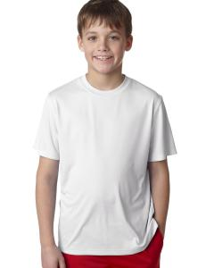 White Youth Unisex Cool DRI® with FreshIQ Performance T-Shirt