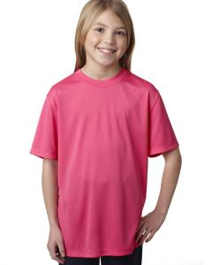 Wow Pink Youth Unisex Cool DRI® with FreshIQ Performance T-Shirt