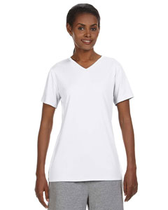 White Ladies' 4 oz. Cool Dri® V-Neck T-Shirt