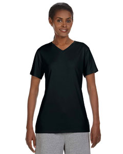 Black Ladies' 4 oz. Cool Dri® V-Neck T-Shirt