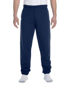 J Navy 9.5 oz., 50/50 Super Sweats® NuBlend® Fleece Pocketed Sweatpants