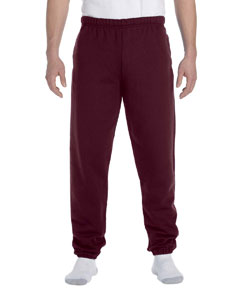 Maroon 9.5 oz., 50/50 Super Sweats® NuBlend® Fleece Pocketed Sweatpants