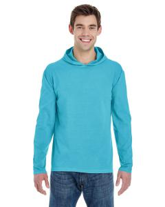 Lagoon Blue Adult Heavyweight RS Long-Sleeve Hooded T-Shirt