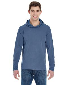 Blue Jean Adult Heavyweight RS Long-Sleeve Hooded T-Shirt
