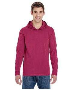 Crimson Adult Heavyweight RS Long-Sleeve Hooded T-Shirt