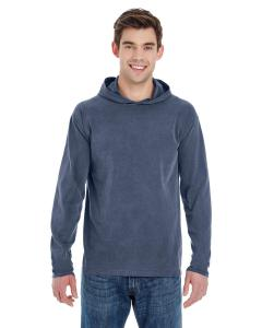 Denim Adult Heavyweight RS Long-Sleeve Hooded T-Shirt