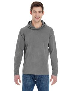Grey Adult Heavyweight RS Long-Sleeve Hooded T-Shirt