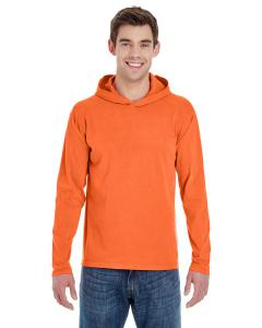 Bright Salmon Adult Heavyweight RS Long-Sleeve Hooded T-Shirt