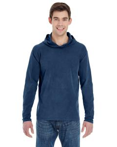 True Navy Adult Heavyweight RS Long-Sleeve Hooded T-Shirt