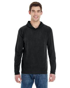 Black Adult Heavyweight RS Long-Sleeve Hooded T-Shirt