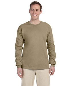 Khaki Adult 5 oz. HD Cotton™ Long-Sleeve T-Shirt