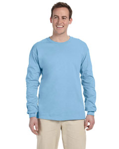 Light Blue Adult 5 oz. HD Cotton™ Long-Sleeve T-Shirt