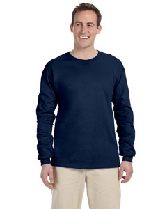 J Navy Adult 5 oz. HD Cotton™ Long-Sleeve T-Shirt