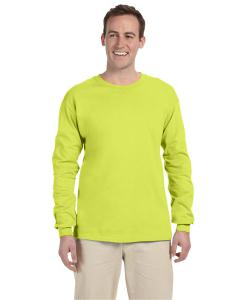 Safety Green Adult 5 oz. HD Cotton™ Long-Sleeve T-Shirt