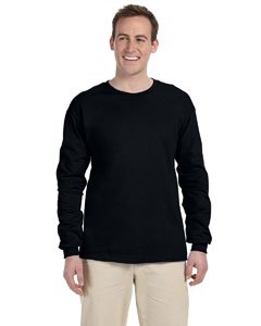 Black Adult 5 oz. HD Cotton™ Long-Sleeve T-Shirt