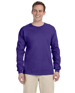 Purple Adult 5 oz. HD Cotton™ Long-Sleeve T-Shirt