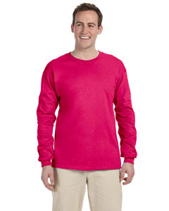 Cyber Pink Adult 5 oz. HD Cotton™ Long-Sleeve T-Shirt