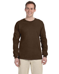 Chocolate Adult 5 oz. HD Cotton™ Long-Sleeve T-Shirt