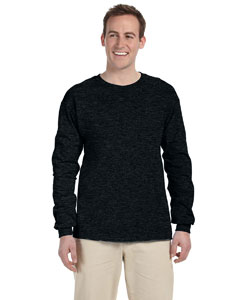 Black Heather Adult 5 oz. HD Cotton™ Long-Sleeve T-Shirt