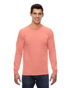 Retro Hthr Coral Adult 5 oz. HD Cotton™ Long-Sleeve T-Shirt