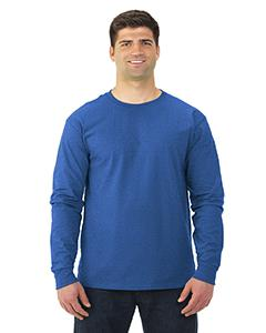 Retro Hthr Royal Adult 5 oz. HD Cotton™ Long-Sleeve T-Shirt