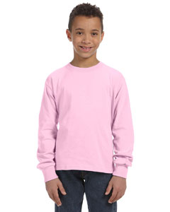Classic Pink Youth 5 oz., 100% Heavy Cotton HD® Long-Sleeve T-Shirt