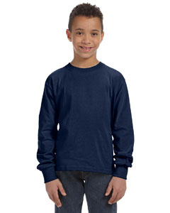 J Navy Youth 5 oz., 100% Heavy Cotton HD® Long-Sleeve T-Shirt
