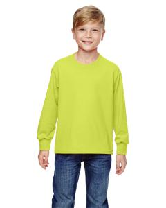 Safety Green Youth 5 oz., 100% Heavy Cotton HD® Long-Sleeve T-Shirt